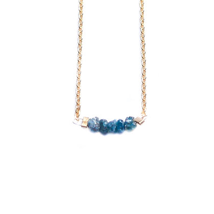 BLUE ROUGH DIAMOND NECKLACE