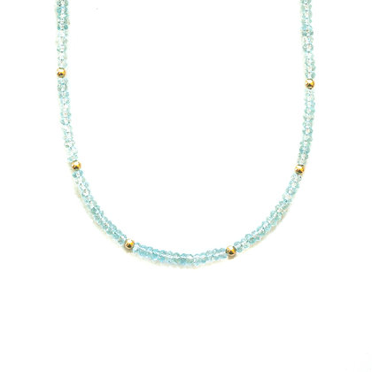 AQUAMARINE MOON CYCLE NECKLACE