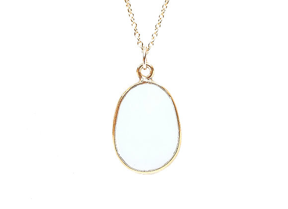WHITE OPAL CHARM NECKLACE