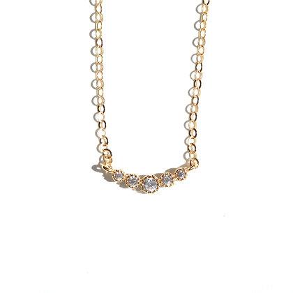 5 DIAMOND BAR NECKLACE