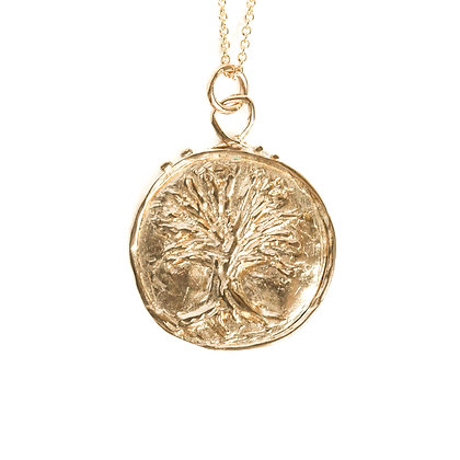 TREE OF LIFE COIN NECKLACE