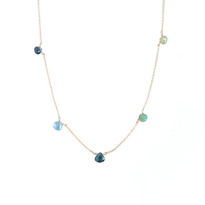 OCEAN BLUES MULTI STONE NECKLACE