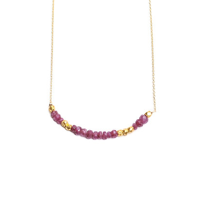 RUBY MORSE CODE NECKLACE