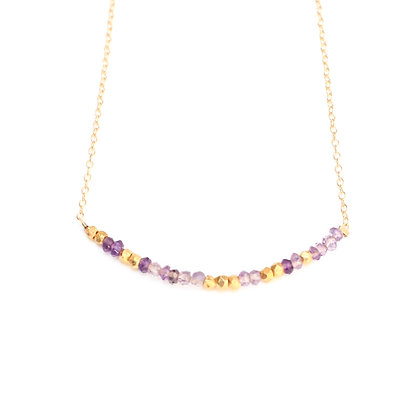 AMETHYST MORSE CODE NECKLACE