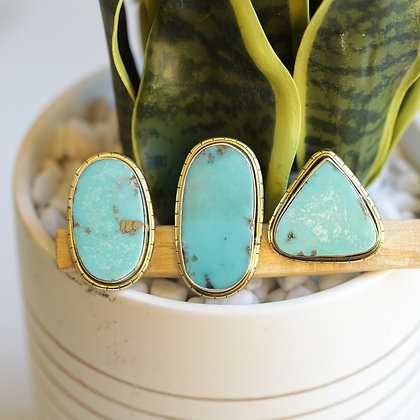 MEXICAN TURQUOISE  LULE RINGS
