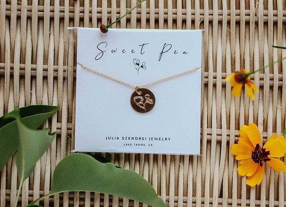APRIL BIRTH FLOWER SWEAT PEA
