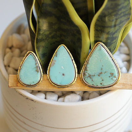 MEXICAN TURQUOISE  LULE RINGS (S5)