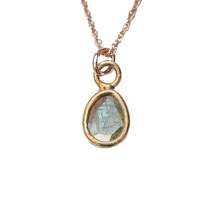 MEGA BLUE DIAMOND SLICE NECKLACE