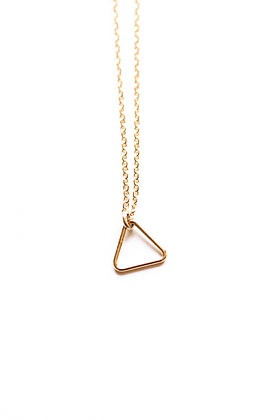 LITTLE 14K GOLD TRIANGLE