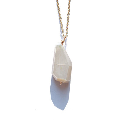 CHOCOLATE MOONSTONE PENDANT-GOLD