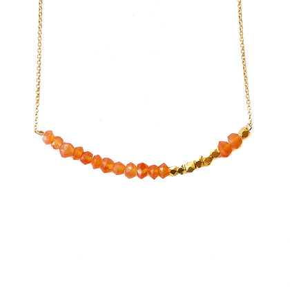 CARNELIAN MORSE CODE NECKLACE