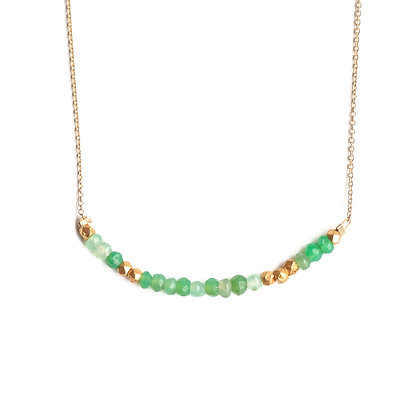CHRYSOPRASE MORSE CODE NECKLACE