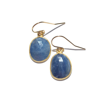SAPPHIRE ROSE CUT EARRINGS