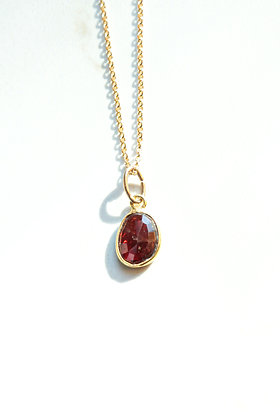 GARNET ROSE CUT GEMSTONE NECKLACE