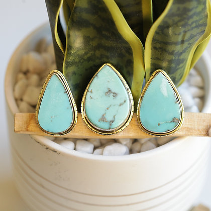 MEXICAN TURQUOISE  LULE RINGS (143)