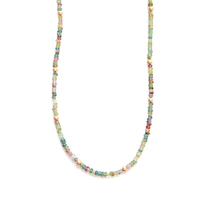 SPRING TOURMALINE MOON CYCLE NECKLACE