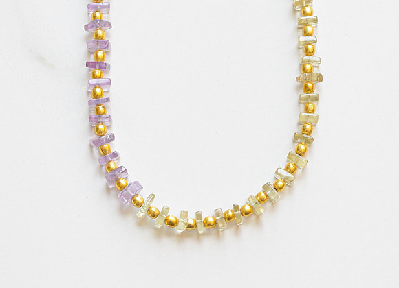 OMBRE STONES + GOLD NECKLACE