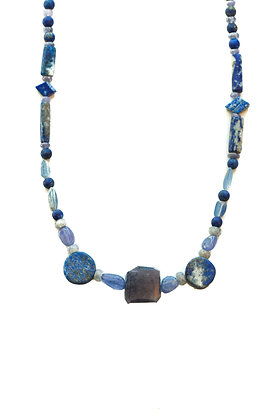 BLUES CHUNKY GEMSTONE NECKLACE