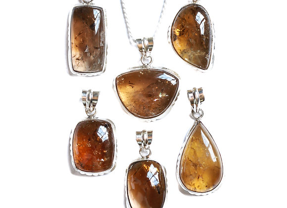 SMOKEY CITRINE DESERT ROSE NECKLACE