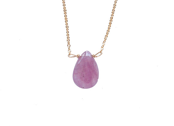 PINK SAPPHIRE MINERAL NECKLACE