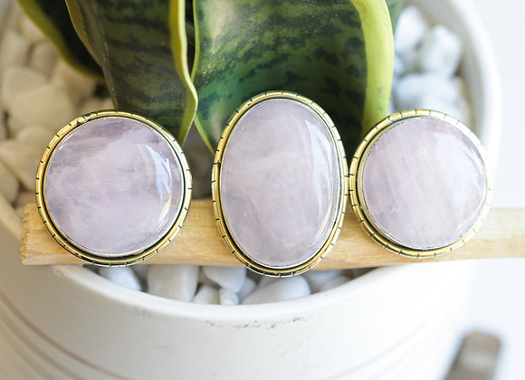 ROSE QUARTZ LULE RINGS