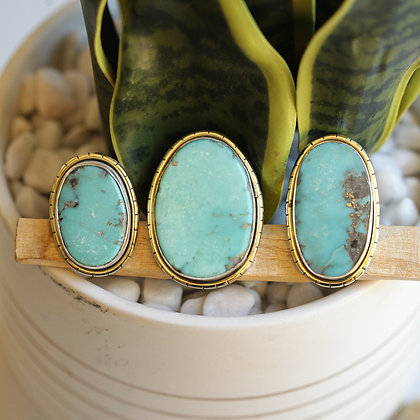 MEXICAN TURQUOISE  LULE RINGS (782)