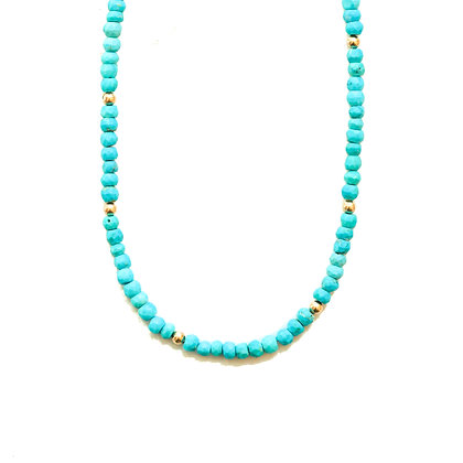 TURQUOISE MOON CYCLE NECKLACE