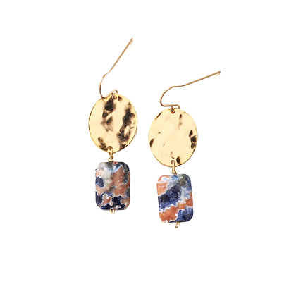 SODALITE + GOLD EARRINGS