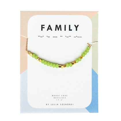 MINT CHALCEDONY MORSE CODE NECKLACE