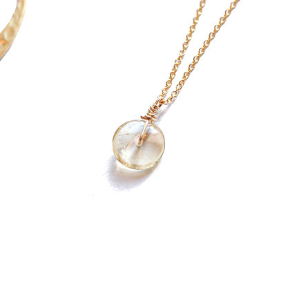 CITRINE CIRCLE IN GOLD