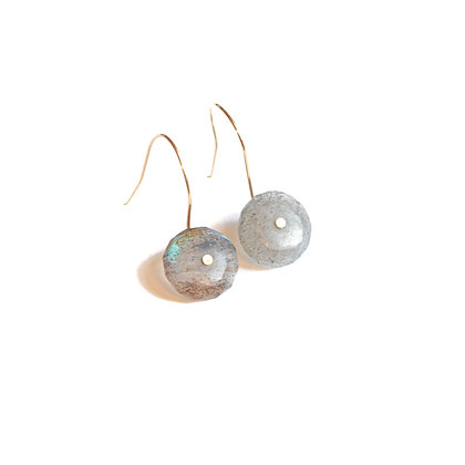 CIRCLE LABRADORITE EARRINGS