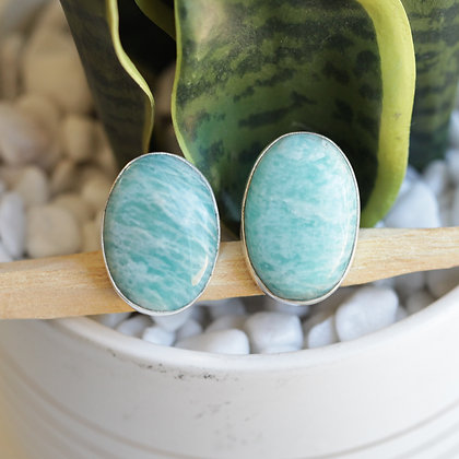 AMAZONITE SILVER RINGS