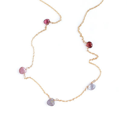 ROMANTIC REDS MULTI STONE NECKLACE