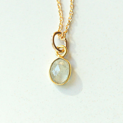 SMALL CHAMPAGNE SAPPHIRE ROSE CUT NECKLACE