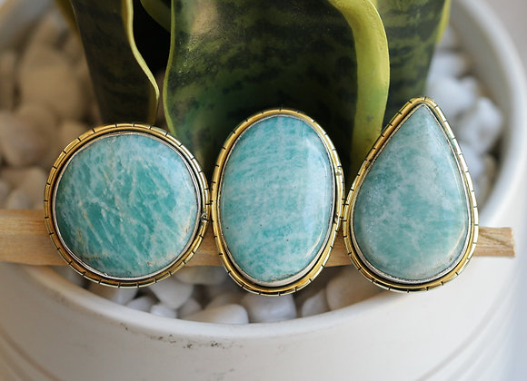 AMAZONITE LULE RINGS