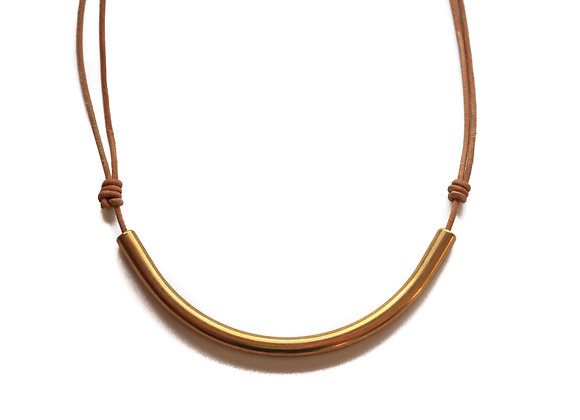 GOLD ARCH CHARGER NECKLACE