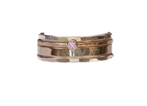 PINK DIAMOND RING STACK