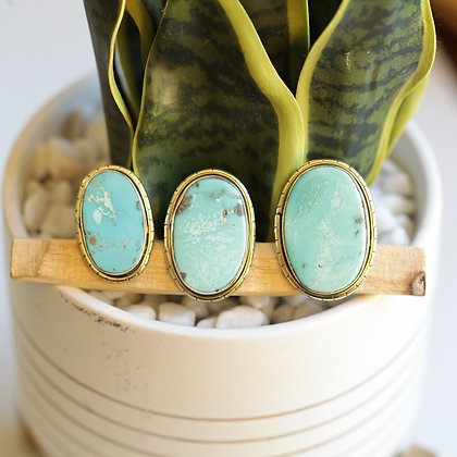 MEXICAN TURQUOISE  LULE RINGS (252)
