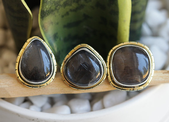 CHOCOLATE MOONSTONE LULE RINGS