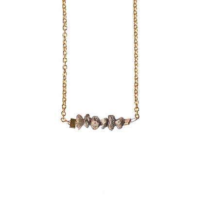 CHAMPAGNE ROUGH DIAMOND NECKLACE