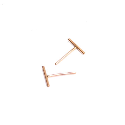 YELLOW GOLD LINE STUDS