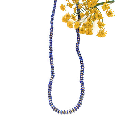 LONG LAPIS CEREMONY NECKLACE