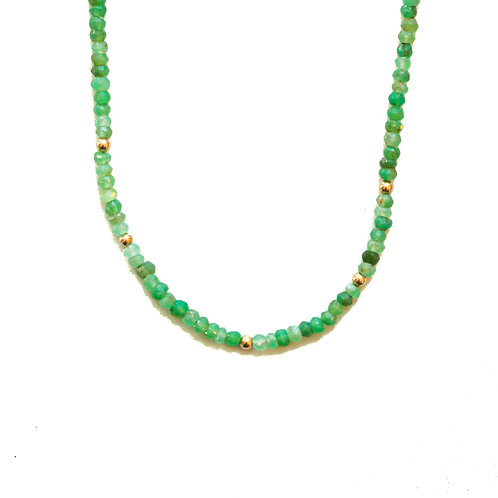 CHRYSOPRASE MOON CYCLE NECKLACE
