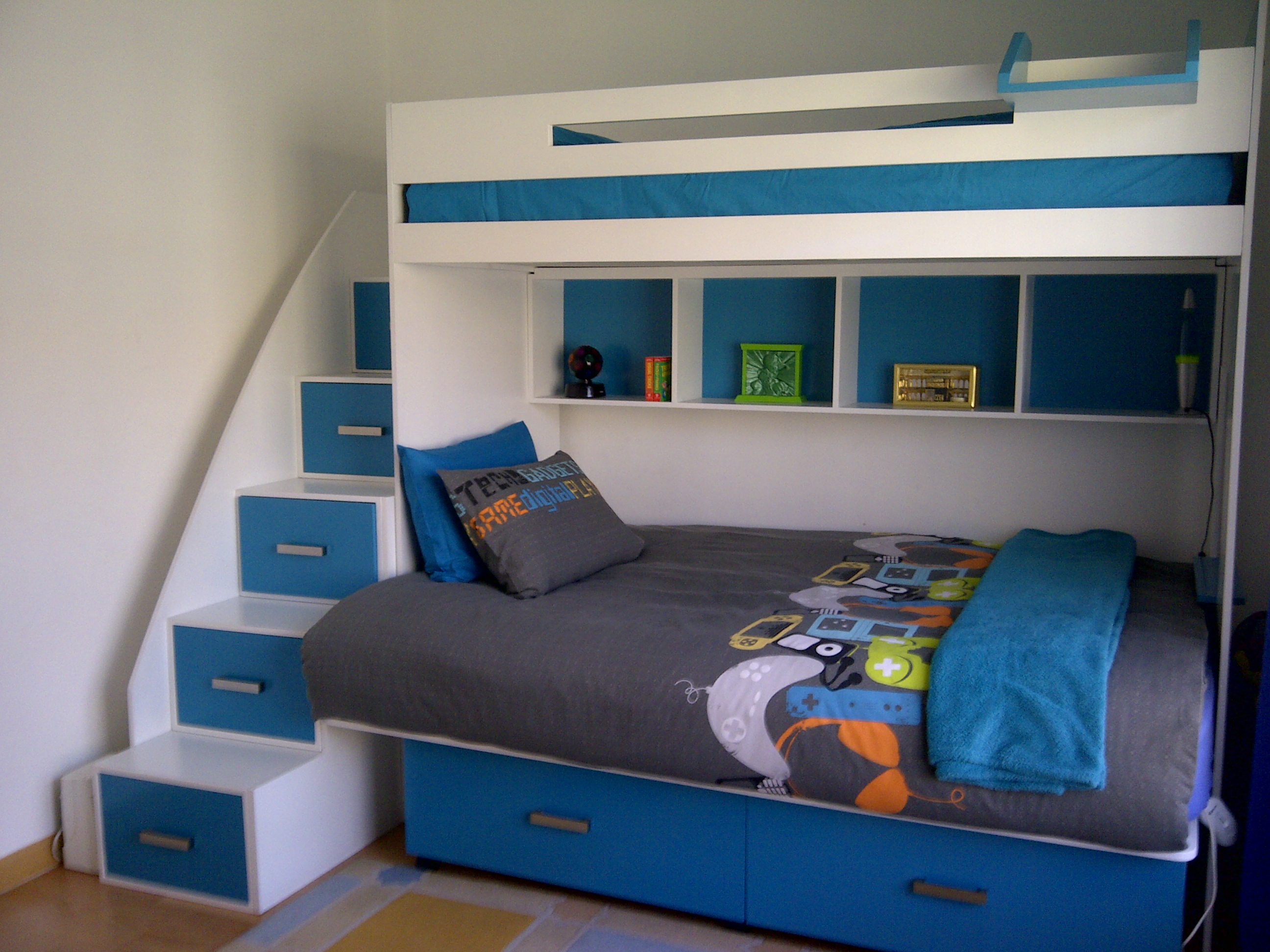 14393f39745 Double lower bed with storage draws