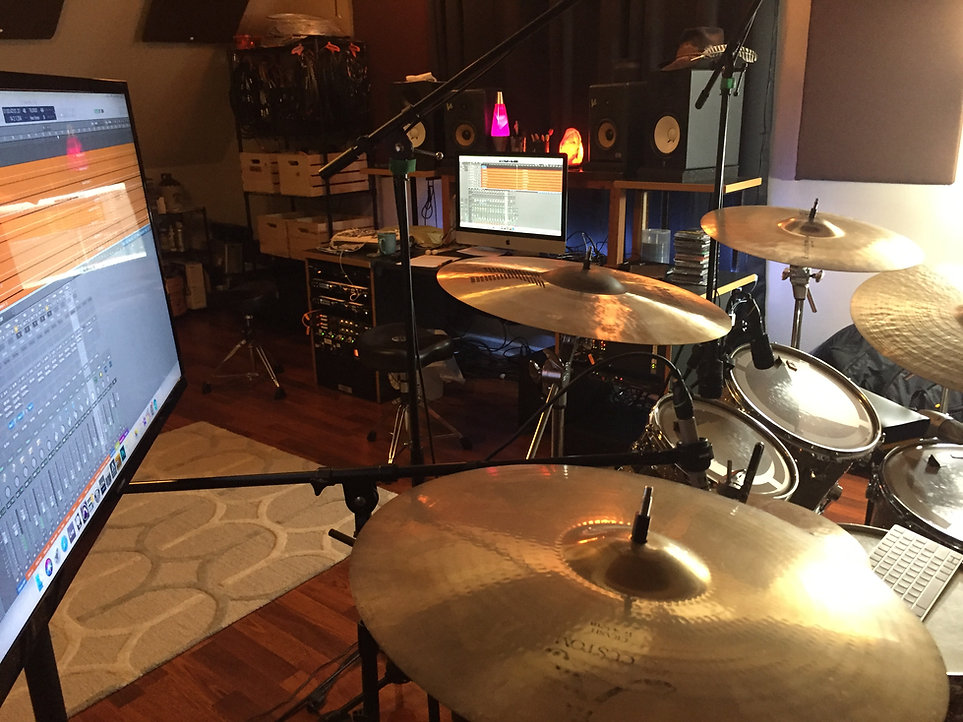 online studio drummer Jake Burton