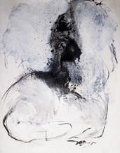 180 x 120 cm - encre, fusain et aclylique sur papier photographique