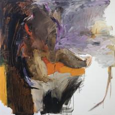 100 x 100 cm huile sur toile