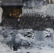 100 x 100 cm - encre, fusain et aclylique sur papier photographique