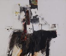 137,5 X 163 cm - collage, encre, fusain, pierre noire et acrylique sur carton