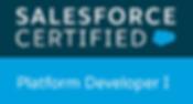 Salesforce certified Platform Developer badge